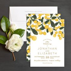 Greeting Card Design Brushed Garden Wedding Invitations by Phrosn� Ras | Elli