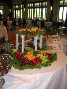 Wedding hors d& Fruit Tables, Fruit Buffet, Buffet Set, Fruit Platters, Buffet Tables, Buffet Ideas, Fruit Centerpieces, Fruit Decorations, Edible Arrangements