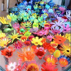 Vbs Babylon Ideas   VBS Babylon: Decor & Marketplace / Water bottle flowers