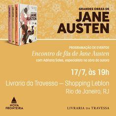 A Editora Nova Fronteira me fez outro convite irrecusável: falar de Jane Austen para quem gosta de Jane Austen! 🙂 No próximo dia 17 de Julhoàs19 horas, Livraria da Travessa do Shopping Leblon no …