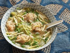 A classic wonton soup made with Chinese superior stock flavored with chicken, pork, ham, and shrimp. The wontons are stuffed with a mixture of pork and shrimp. The shrimp are brined in a solution of salt and baking soda to make them extra crisp.