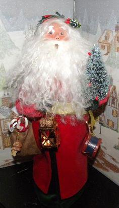 Byers Choice Caroler Old English Santa W Tree Lantern Bag Of Toys