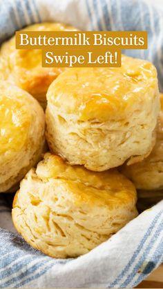 Homemade Buttermilk Biscuits, Buttery Biscuits, Brunch Recipes, Breakfast Recipes, Dessert Recipes, Desserts, Dinner Recipes, Creamy Chicken Stew, Easy Biscuit Recipe