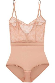 5 French Lingerie Brands You Need To Know #refinery29  http://www.refinery29.com/french-lingerie#slide-11  Get the old-fashioned bodice look without suffering through tight corset laces.Eres Charivari Stretch-lace and Silk-blend Satin Bodysuit, $510, available at Net-A-Porter.... - body lingerie, extreme lingerie, lingerie collection *ad