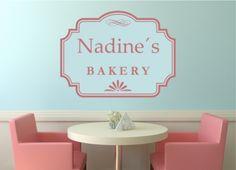 Wandtattoo Küche - Schild Bakery mit Name