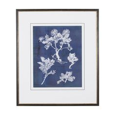 Ethan Allen - blue and white