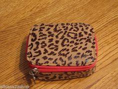 Pink pill box purse organizer animal print ID Rolfs NEW container RARE travel