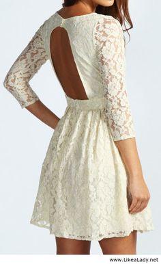 Beautiful white short dress