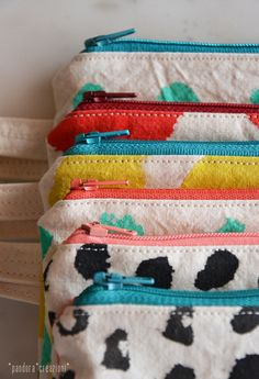 994541b655612b colors * hand painted cotton zipper pouch by pandora | madebyme ...