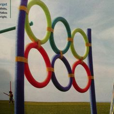 Great idea from Family Fun mag...buy swim noodles to make a target station (kids can throw ball or noodle javelin).