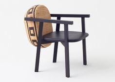 Nendo's Tokyo Tribal furniture incorporates bamboo baskets