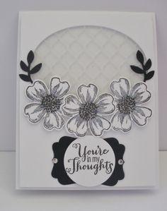 Elegant black and white card Stampin UP