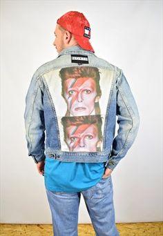 NORTH Custom Reworked David Bowie Denim Jacket Unisex · Shop JacketsDavid  BowieDenim JacketsUnisexSweatshirtJean ...