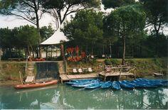 La partenza in canoa per le saline di Cervia.  www.slowsports.it
