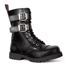 NEVERMIND 10-eye Buckle Boots @ SinisterSoles.com
