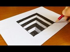 How to draw a hand. Line paper trick art optical illusion drawing. This is easy and fun to do! Easy 3d Drawing, 3d Drawing Tutorial, 3d Art Drawing, Paper Drawing, 3d Drawings, Paper Art, Drawing Ideas, Art Drawings For Kids, Drawing Faces
