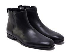 Salvatore Ferragamo ankle boots in black leather - Italian Boutique €417