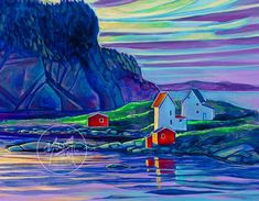 Salvage painting by Newfoundland artist Adam Young Crafts With Pictures, Pictures To Paint, Adam Young, Young Art, Bright Pictures, True North, Boy Toys, Nice Art, Painting Lessons