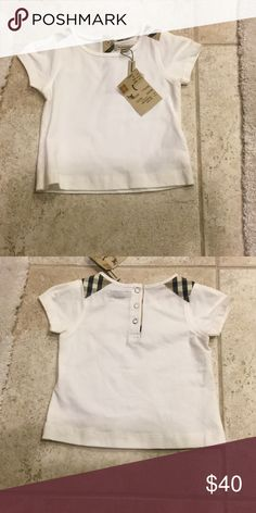 Burberry unisex top So cute.  It's 2t and its unisex. Burberry Shirts & Tops Tees - Short Sleeve