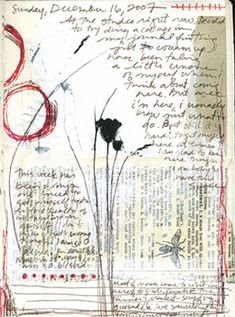 Bridgette Guerzon Mills december media I find work on paper like this really satisfying. The combination of words, drawing, a little bit of collage… works perfectly. Art Journal Pages, Journal D'art, Creative Journal, Art Journals, Creative Art, Journal Ideas, Collages, Collage Art, Kunstjournal Inspiration