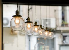 vintage light fittings.  Love these lights!