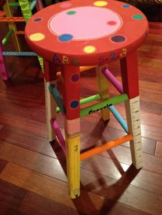 Transform a simple stool into a work of art for that special someone.