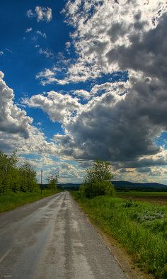 Cloudy Way by .vpeter, via Flickr Cloudy Day, Country Roads, Explore, Pictures, Photography, Photos, Photograph, Fotografie, Photoshoot