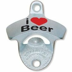 I Heart (Love) Beer Starr X Wall Mount Bottle Opener by Starr X. $7.86. New for 2011. Printed 'I Heart Beer' STARR 'X' Stationary Bottle Opener. This says it all! Comes with two mounting screws.