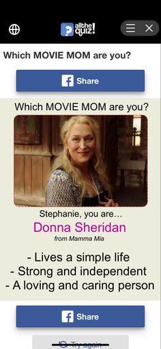 Fun Quizzes, Mamma Mia, Movies, Life, Films, Cinema, Movie, Film, Movie Quotes