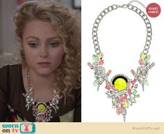 Carrie's neon crystal necklace on The Carrie Diaries. Outfit Details: http://wornontv.net/25648 #TheCarrieDiaries #fashion