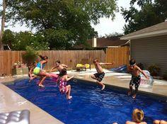 Central Pools Inc 12 X 28 Hydra Baker Louisiana Trilogy Fiberglass Pools