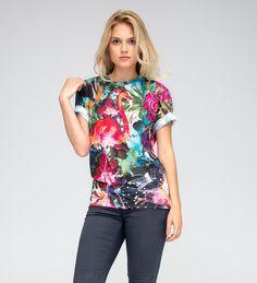 T-Shirts & Sweatshirts - COLORFUL FLAMINGO T-Shirt - ein Designerstück von mrgugu bei DaWanda