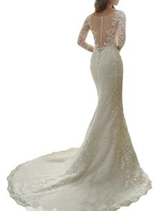 Cardol Flower Appliques Mermaid Half Sleeves Lace Wedding Dresses Bridal  Wedding Gowns at Amazon Women s Clothing store  2747c7907