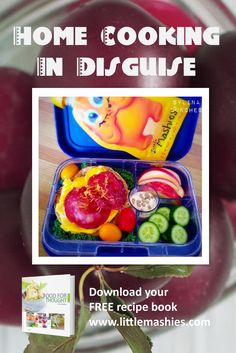 Healthy bright lunch loved by kids. Reusable food pouch and recipes from Amazon and http://www.littlemashies.com