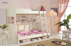 Chambre à coucher bébé   Chambre enfant avec lit et commode en bois ...