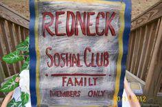 Vintage Corrugated Tin Metal  REDNECK Indoor by TheKrackerjackBox, $19.95