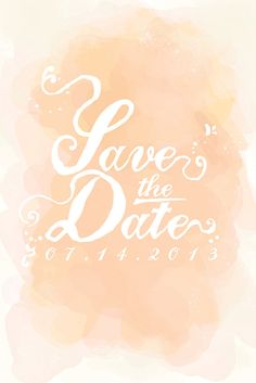 watercolor save the date (by felice design)