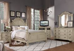Sofia Vergara Paris Silver 5 Pc King Bedroom | Pinterest | Sofia ...