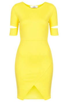 **Scuba Cut Out Step Hem Bodycon Dress by Oh My Love