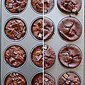 Muffins au chocolat de valérie