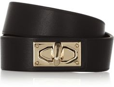 Givenchy Shark Lock bracelet in leather and gold-tone brass on shopstyle.com