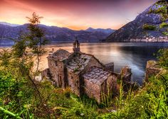 Old Church Overlooking The Sea In Sunset Time Royalty Free Stock Photos - Image: 27766038 Free Images For Blogs, Greek Islands To Visit, Montenegro Travel, I Want To Travel, Self Driving, Croatia, Scenery, Royalty Free Stock Photos, Europe