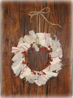 easy ornament and i love that she used a yogurt lid with the center cut out for the base - add burlap!!!