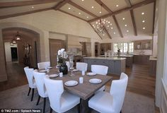 New reality setting: The pair can also throw dinner parties for Kim's large family with th...