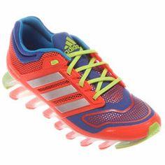 Tênis Adidas Springblade 2 Tech Fit - Azul+Laranja