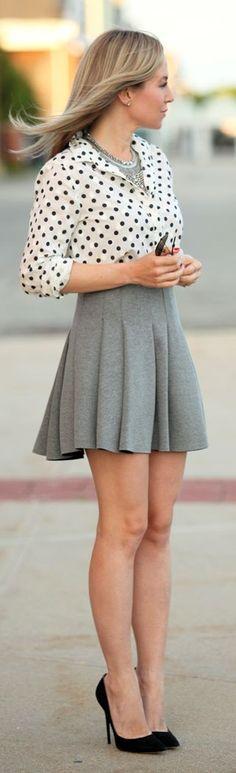 J.crew White Women's Summer Black Dot Button Up by Brooklyn Blonde