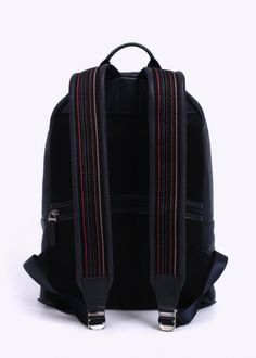 Paul Smith Jeans City Webbing Leather Backpack - Navy