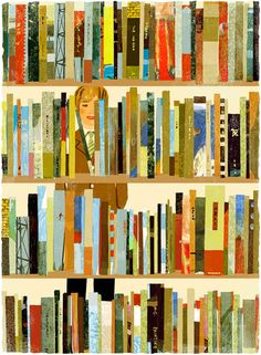 Magazine illustration by japanese illustrator Tatsuro Kiuchi — it's telling that he can make a bunch of rectangles thrilling and vibrant. I Love Reading, Love Book, Reading Art, Reading Room, Reading People, Reading Time, Book Art, Books To Read, My Books
