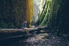 lyricalsycamore:  Oneonta Gorge. by Donna Muccio on Flickr.