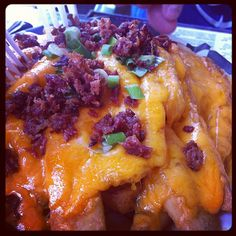 Cheese Fries by Kristen Crone #Hueys <- that's me!! My pic is on pinterest!!